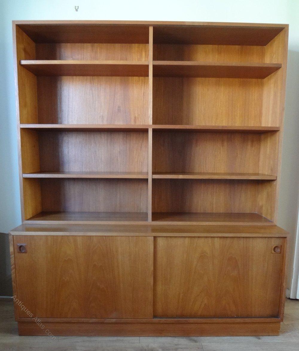 Mid Century Danish Teak Sideboard Bookcase
