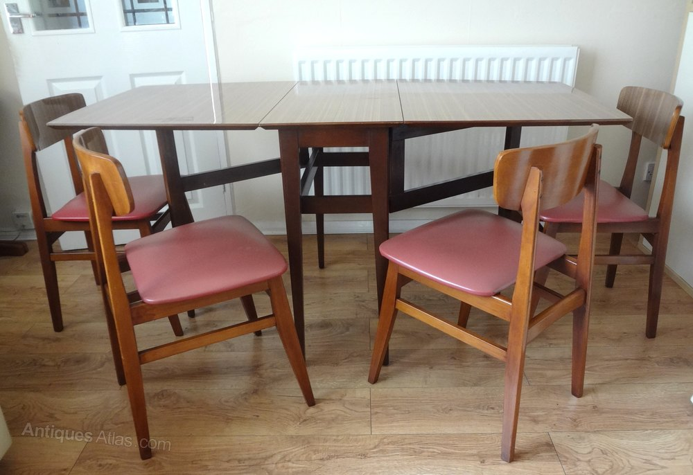 Retro Formica Dining Table Chairs Midcentury