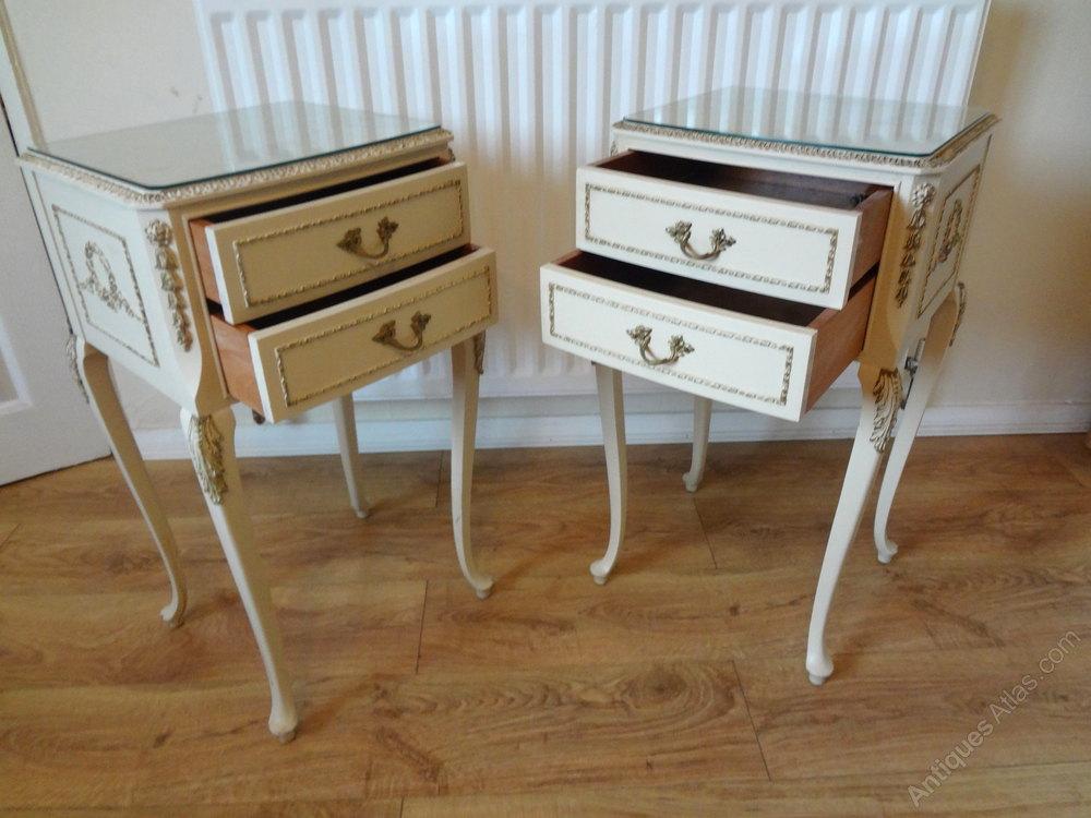 Olympus Louis Bedside Tables Vintage