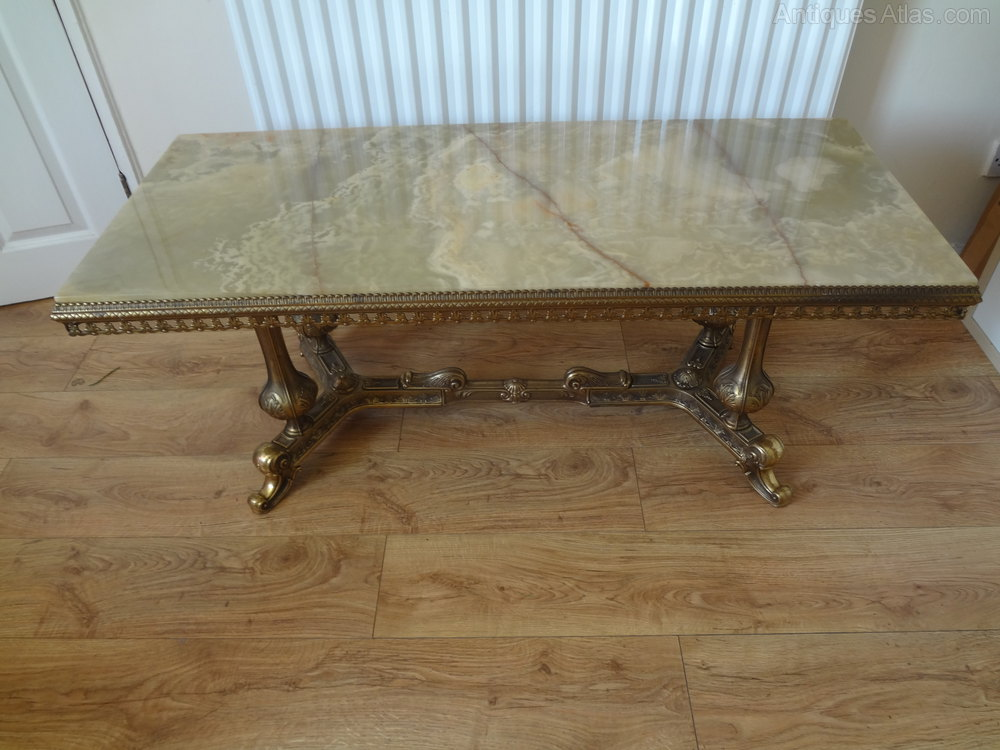 Antiques Atlas Onyx Marble Coffee Occasional Table