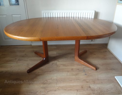Retro Danish Teak Dining Table By Glostrup 1960 S
