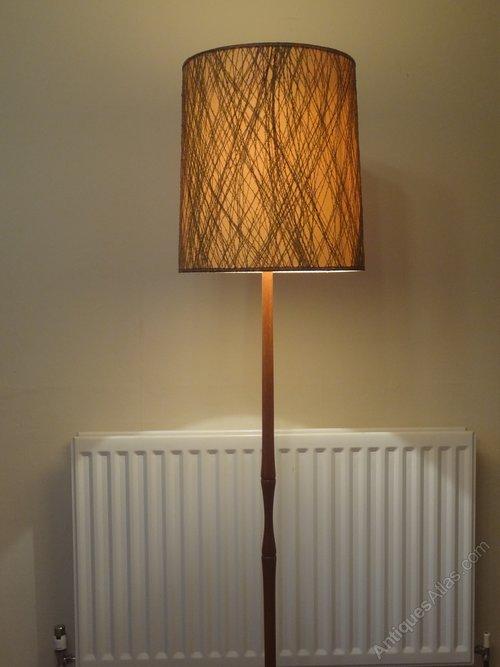 Vintage Danish Solid Teak Table Lamp