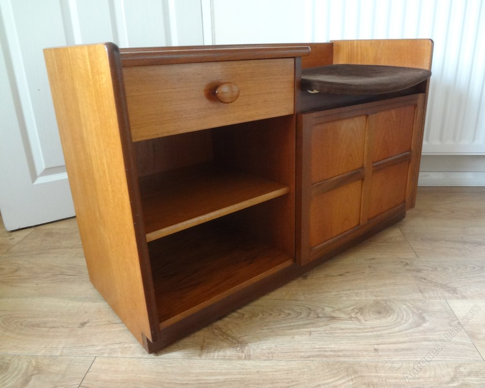 Well-known Antiques Atlas - Retro Nathan Teak Telephone Table Record Cabinet PR97