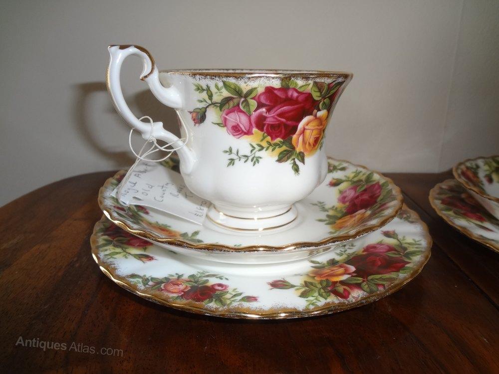 Antiques Atlas Royal Albert Old Country Roses Tea Set Trios