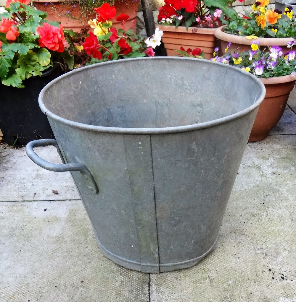 Antiques Atlas Vintage Galvanised Tin Baths Buckets Wash