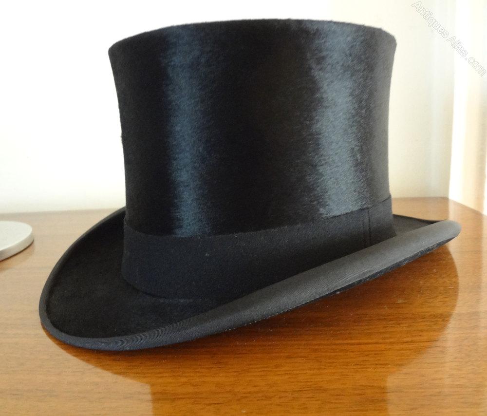 Antiques Atlas Vintage Silk Top Hat Amp Box