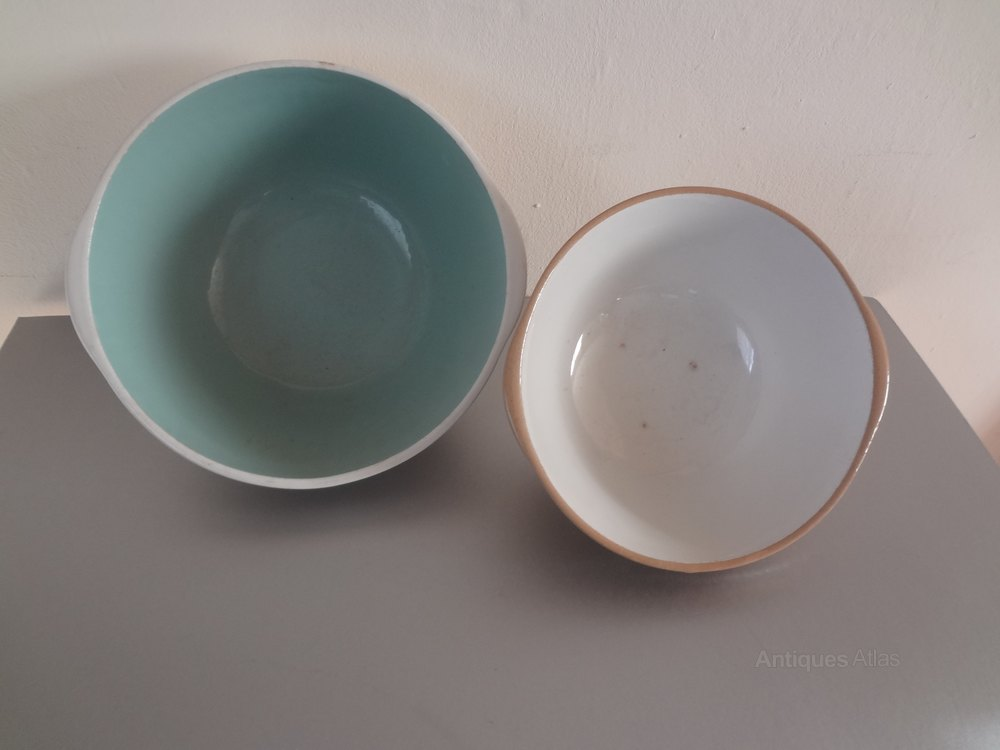 Antiques Atlas Vintage T G Green Baking Mixing Bowls