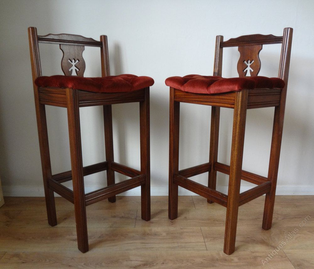 Antiques Atlas Tall Mahogany Bar Stools