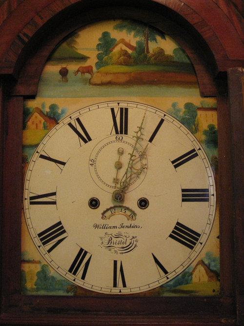 Antiques Atlas Mahogany Painted Face Grandfather Clock