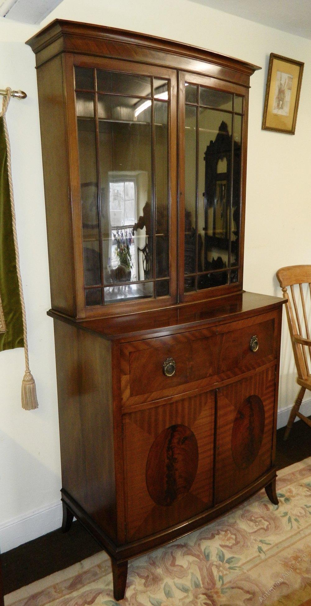 Mahogany Bowfront Secretaire Bookcase Antiques Atlas