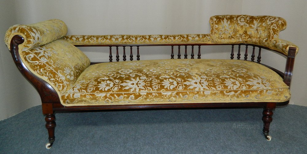 Victorian chaise longue sofa antiques atlas for Antique victorian chaise longue