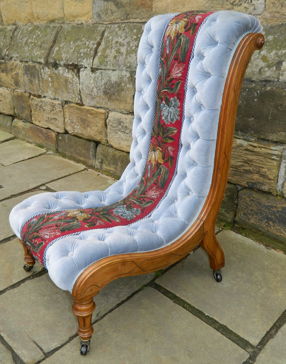 Ordinaire Victorian Slipper Chair Antique Slipper Chairs Slipper Chair Prayer Chair  Salon Chair ...