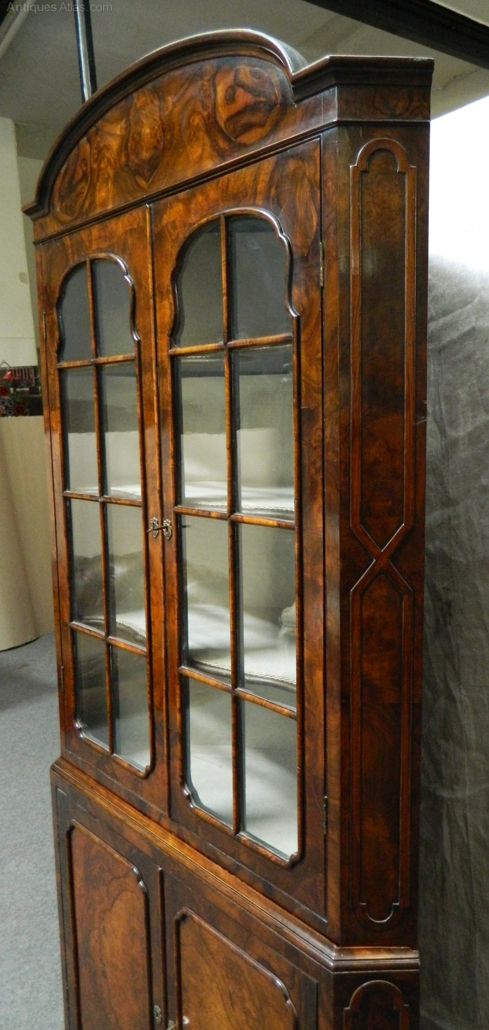 Victorian Walnut Corner Cupboard Antiques Atlas
