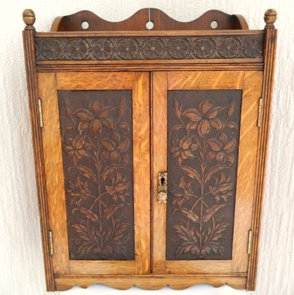 Arts U0026 Crafts Oak Wall Cabinet ...