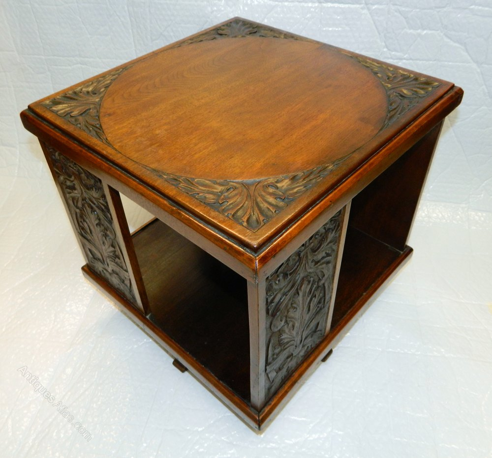 Arts U0026 Crafts Table Top Revolving Bookcase Antique Revolving Bookcases ...