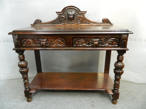 antique hall table. Carvd Oak Green Man Hall Table Antique