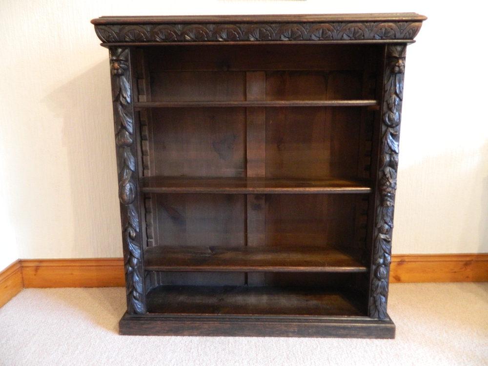 Carved Oak Green Man Bookcase Antiques Atlas