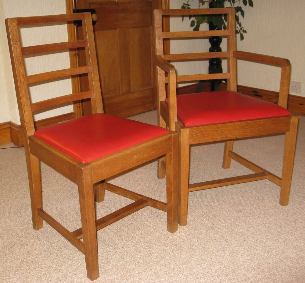 Dining Room Chairs Heals heals arts & crafts oak dining table & six chairs - antiques atlas
