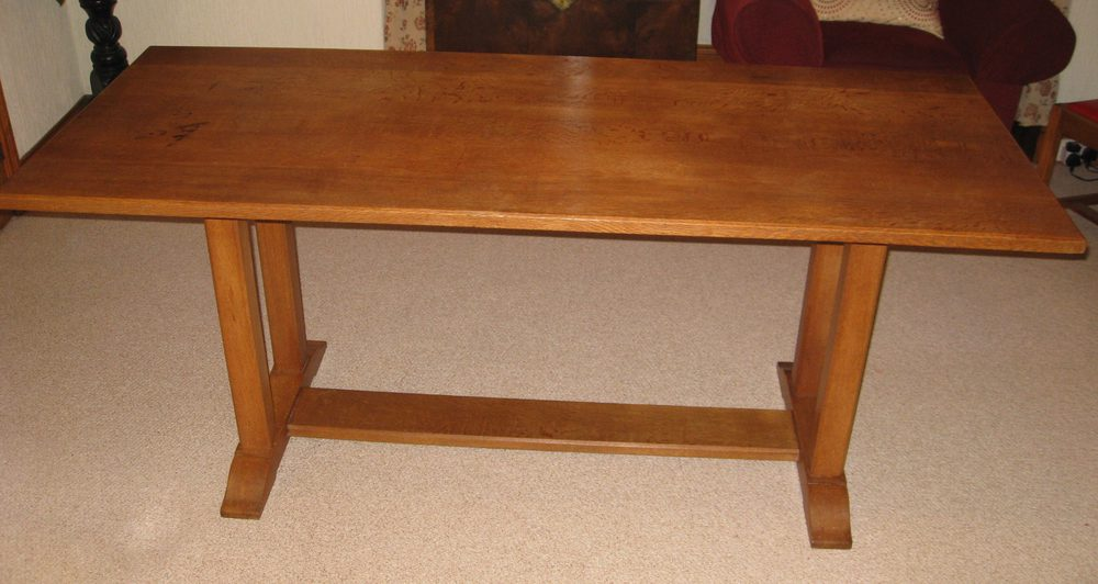 Heals Arts U0026 Crafts Oak Dining Table U0026 Six Chairs ...