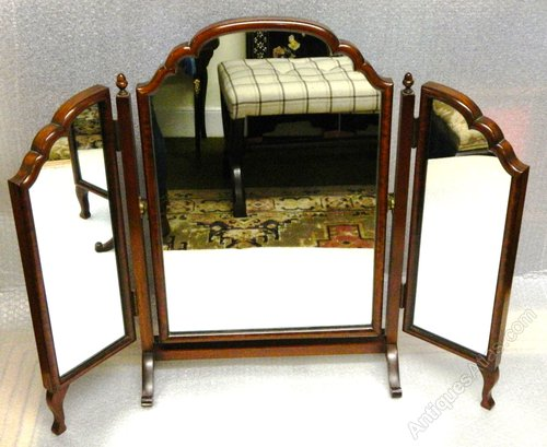 antiques atlas mahogany triple dressing table mirror