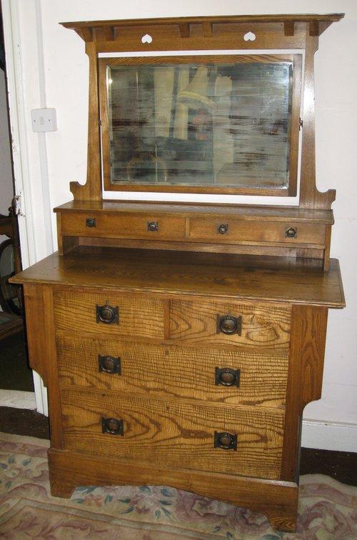 Oak Arts Amp Crafts Dressing Table Antiques Atlas