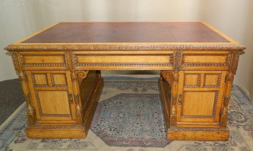 Antique Partners Desk Melamine Desk Top