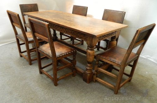 Oak Refectory Table Chairs Antique Tables