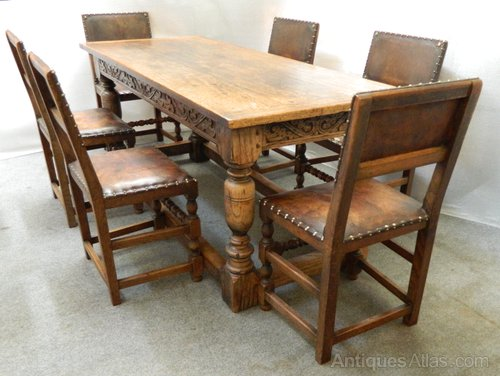 antique table and chairs Oak Refectory Table & Chairs   Antiques Atlas antique table and chairs