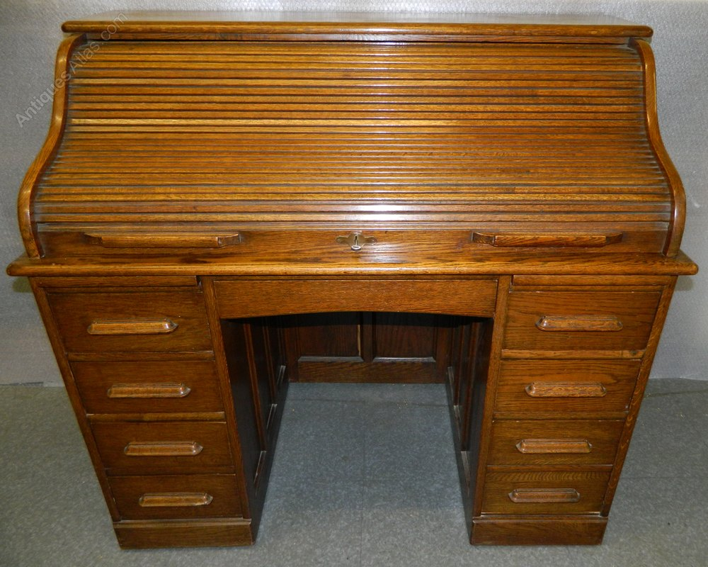 Oak Roll Top Desk By Angus Of London Antiques Atlas