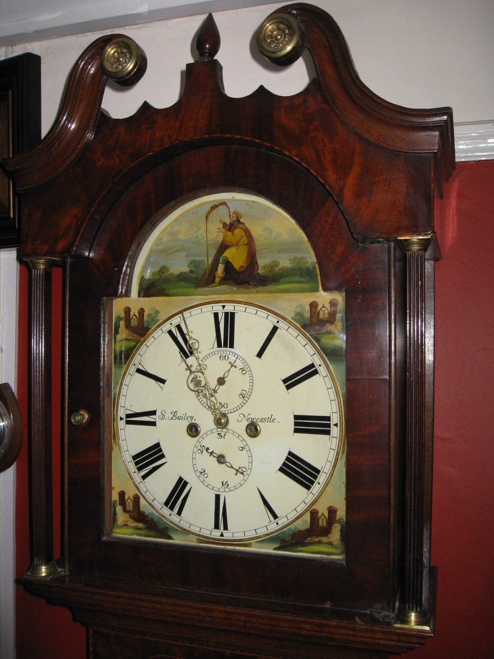 Antiques Atlas Painted Face 8 Day Grandfather Clock