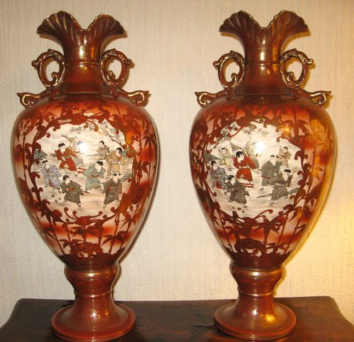 Antiques Atlas Pair Of Large Japanese Vases