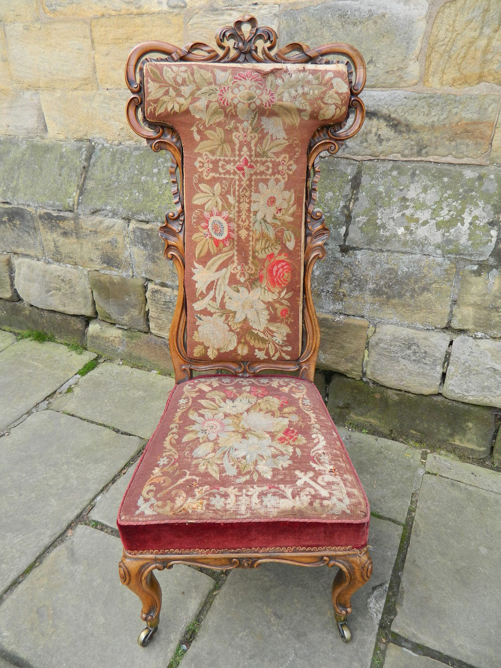 Superb Quality Rosewood Prayer Chair Antique Occasional Chair ... - Superb Quality Rosewood Prayer Chair - Antiques Atlas