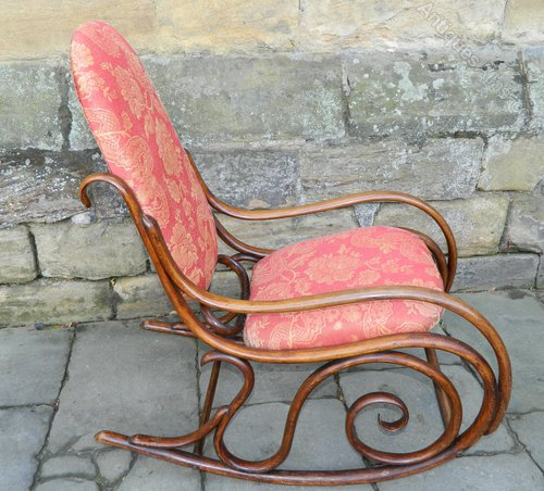 Sensational Thonet Rocking Chair Antiques Atlas Creativecarmelina Interior Chair Design Creativecarmelinacom