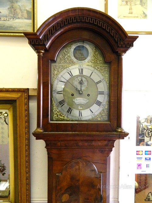Antiques Atlas - Walnut 8 Day Rocking Ship Grandfather Clock