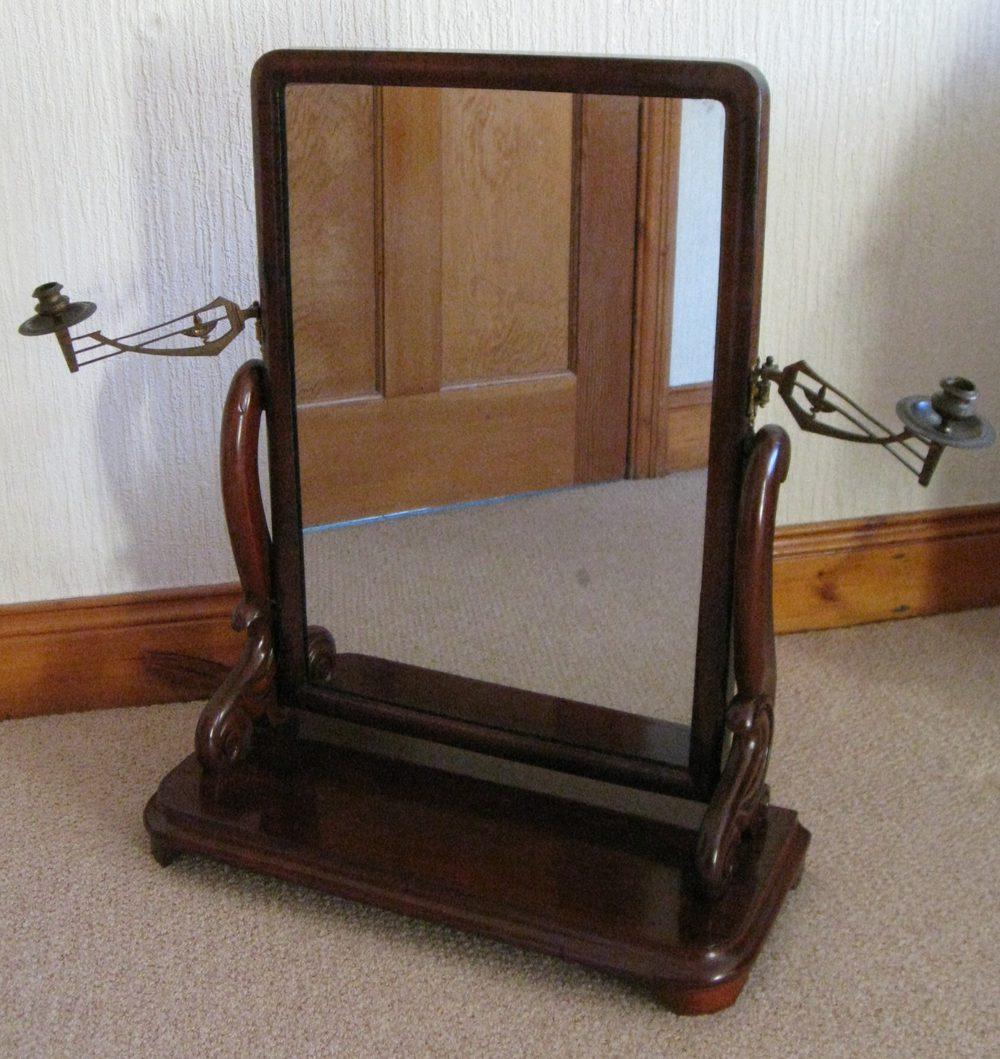 William Iv Mahogany Dressing Table Mirror Antique