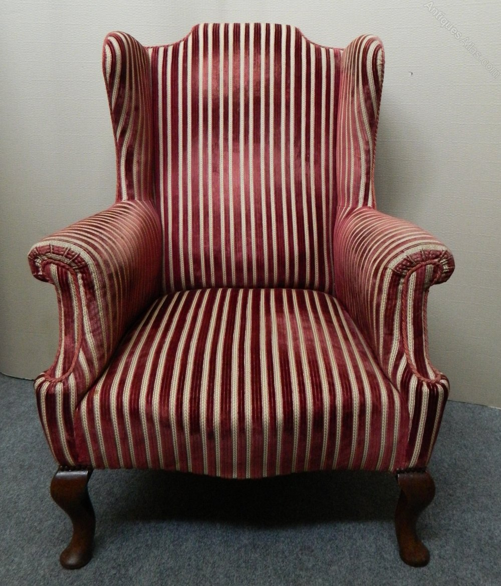 Wing Back Armchair - Antiques Atlas