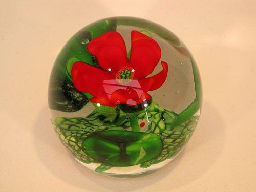 Antiques atlas chinese paperweight red flower incredible detail chinese paperweight red flower incredible detail mightylinksfo