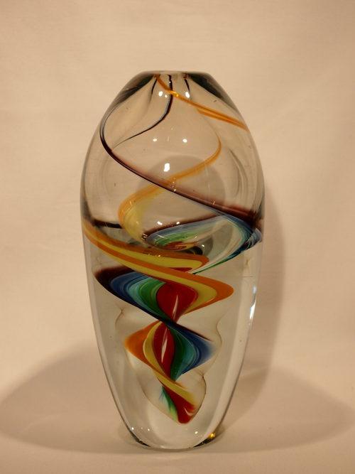 Antiques Atlas Murano Art Glass Vase Multi Colour Swirl Twist
