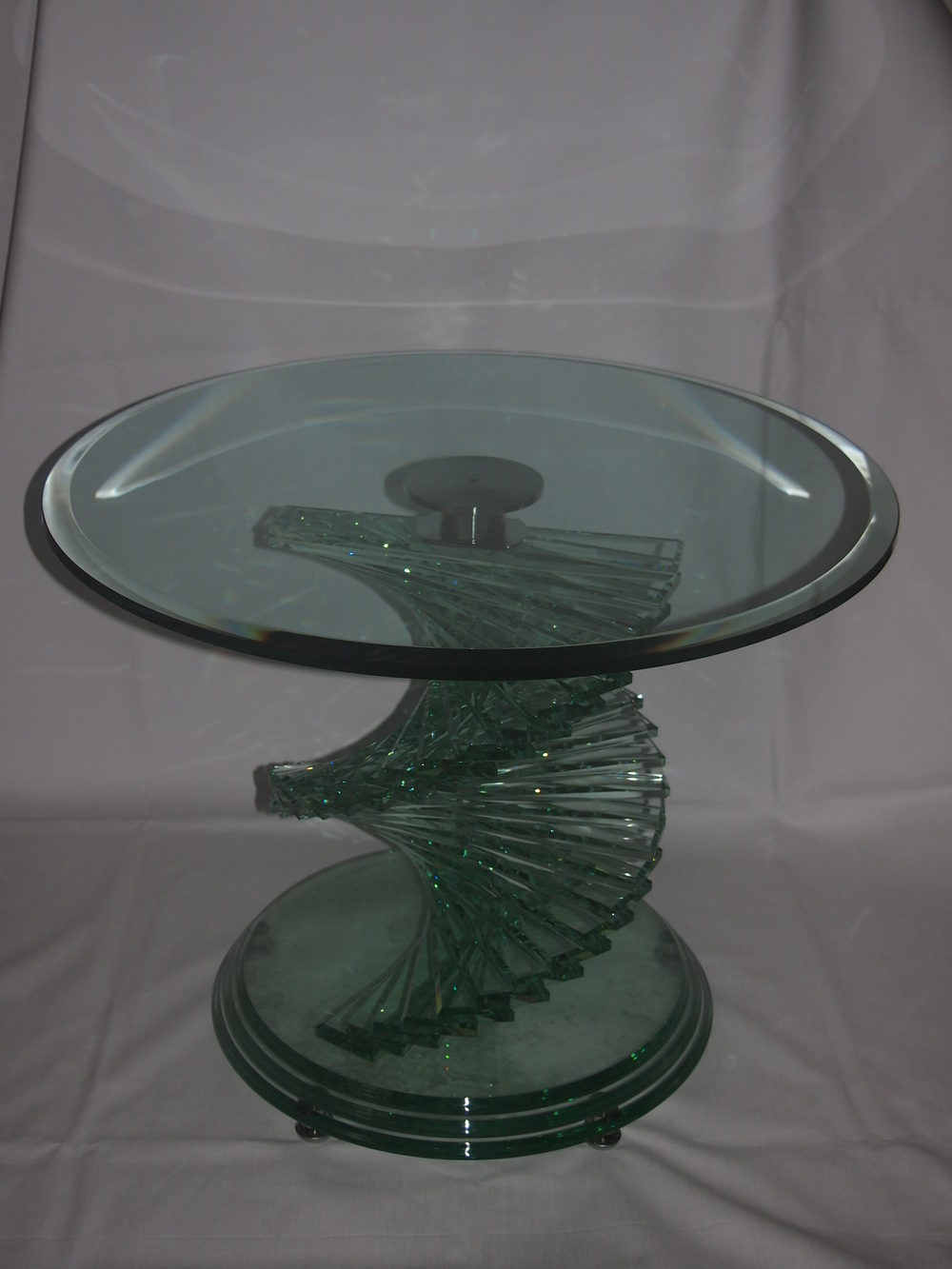Bricks For Sale >> Antiques Atlas - Heavy Glass Spiral Coffee Table