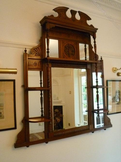 Antiques Atlas Mahogany Overmantle Mirror