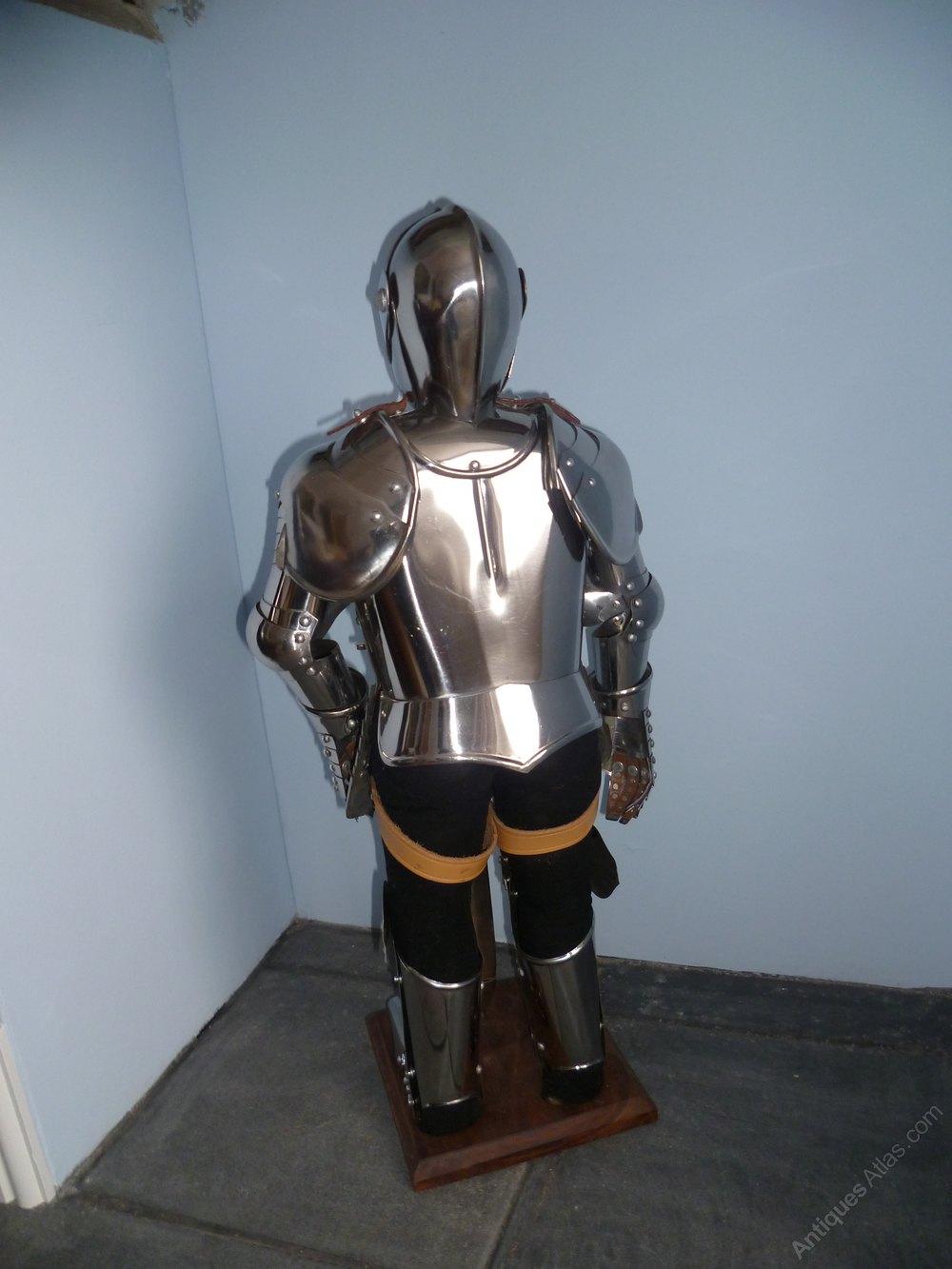 Miniature Suit Of Armour Antique Metalware