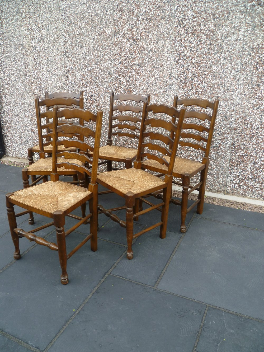 Set of six ladder back chairs antiques atlas Ladder back chairs