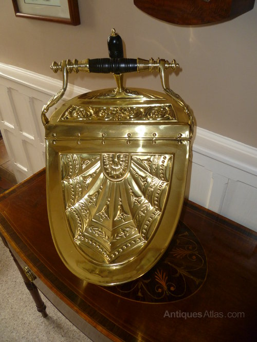 Antiques Atlas - Victorian Brass Coal Scuttle