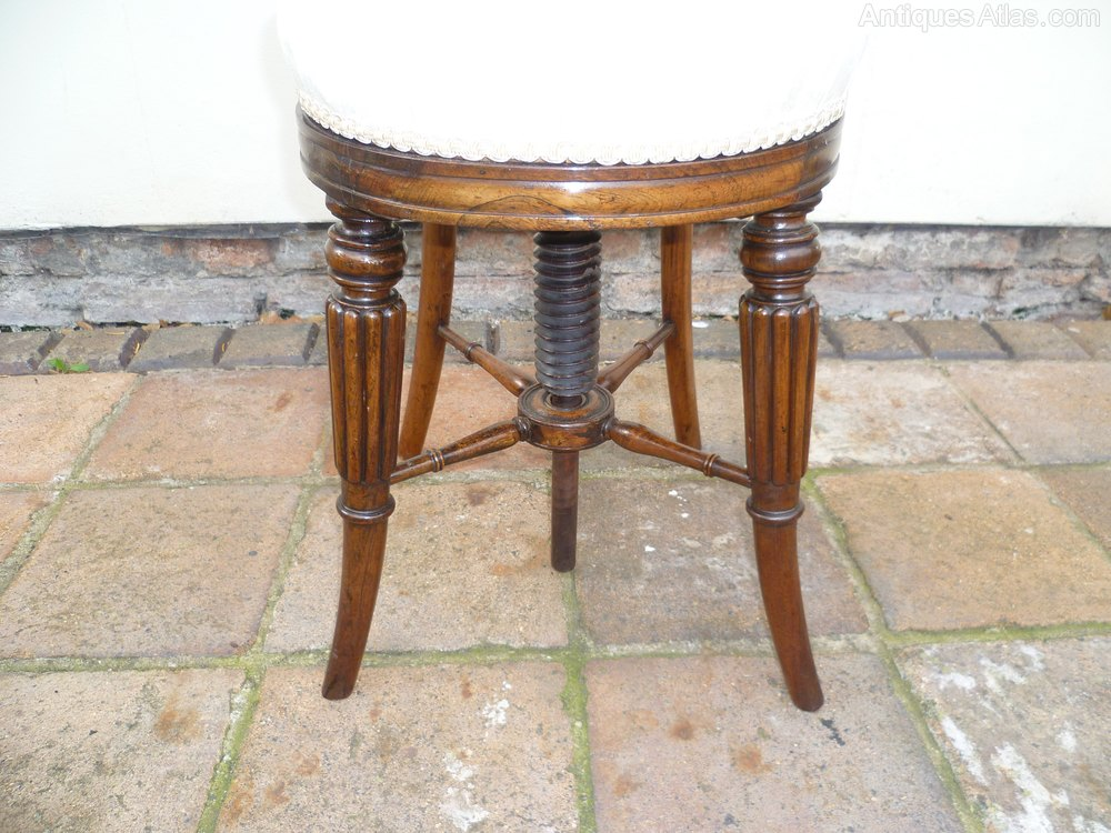 ... Piano Chair - William IV Cellist Or Piano Music Chair - Antiques Atlas