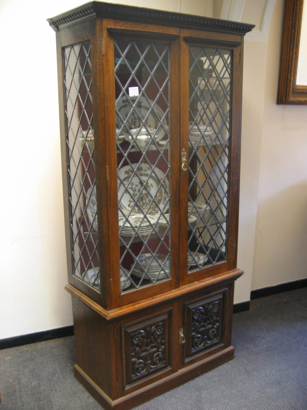 antique oak display cabinet antique carved oak display cabinet antiques atlas 4118