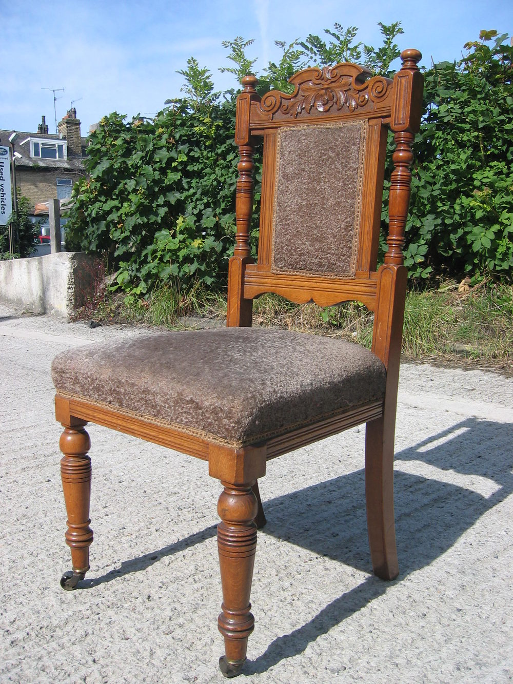 Four Golden Oak Edwardian Chairs Antiques Atlas