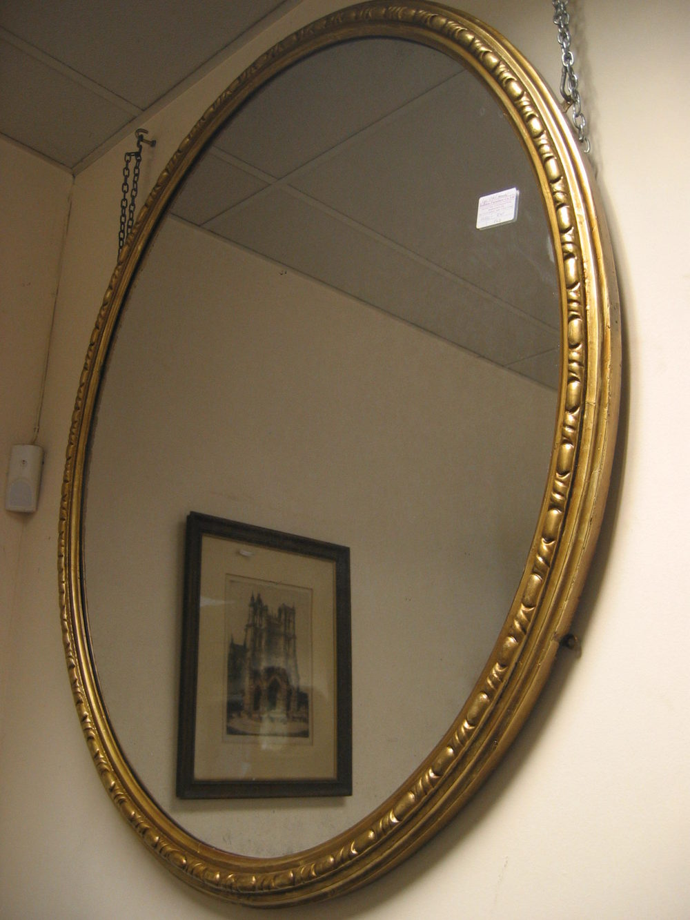 Antiques Atlas Large Victorian Oval Mirror Reserved