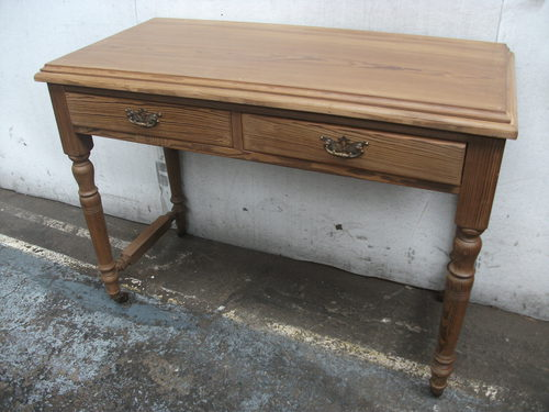 - Pitch Pine Side/writing Table - Antiques Atlas