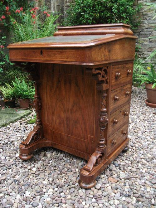Victorian Walnut Davenport Desk Antique ... - Victorian Walnut Davenport Desk - Antiques Atlas