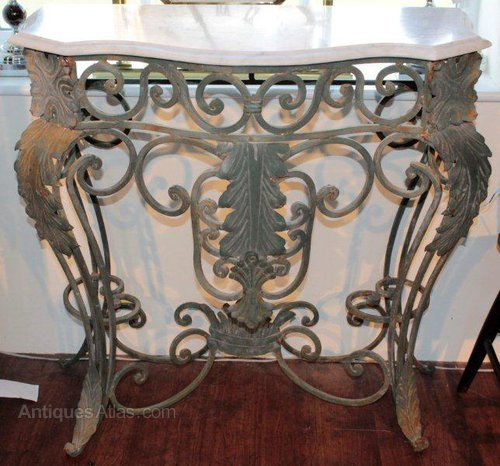A French Wrought Iron Console Table Antiques Atlas